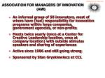 association for managers of innovation ami