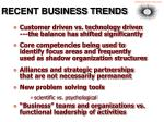 recent business trends
