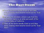 the dust storm