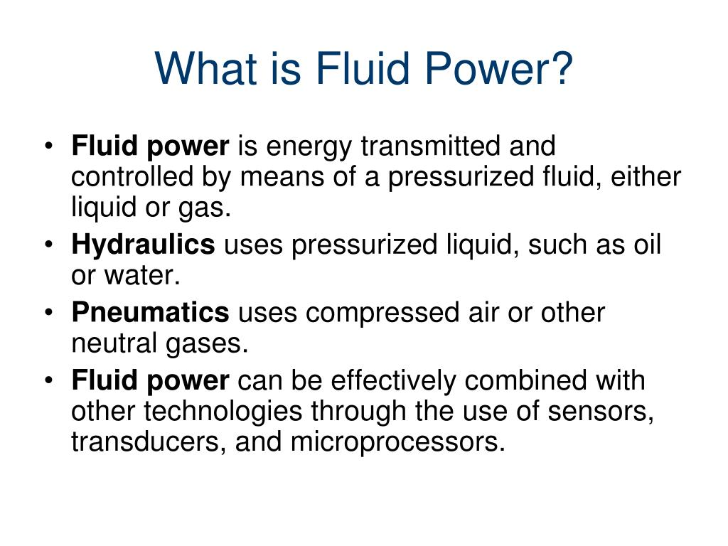 What is Fluid Power?