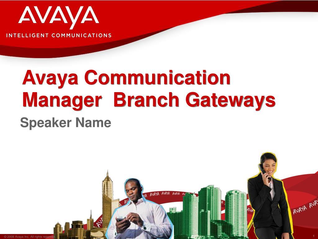 avaya communication manager branch gateways l.