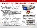 avaya ig550 integrated media gateway