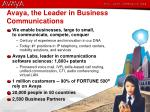 avaya the leader in business communications