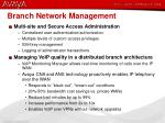 branch network management