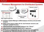 firmware management for distributed systems