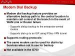 modem dial backup