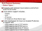 sls feature summary station types