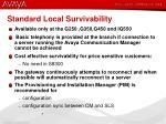 standard local survivability