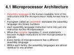 4 1 microprocessor architecture