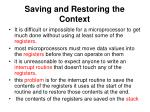 saving and restoring the context