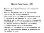 choice experiments ce