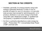 section 48 tax credits
