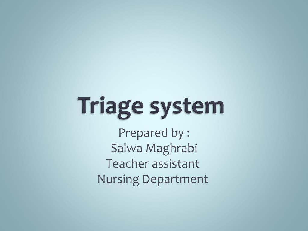 triage system l.