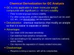 chemical derivatization for gc analysis