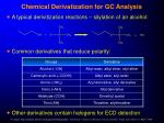 chemical derivatization for gc analysis29