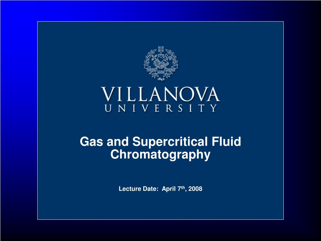 gas and supercritical fluid chromatography l.