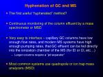 hyphenation of gc and ms
