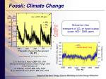 fossil climate change
