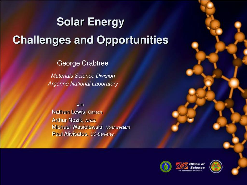 solar energy challenges and opportunities l.