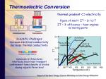 thermoelectric conversion