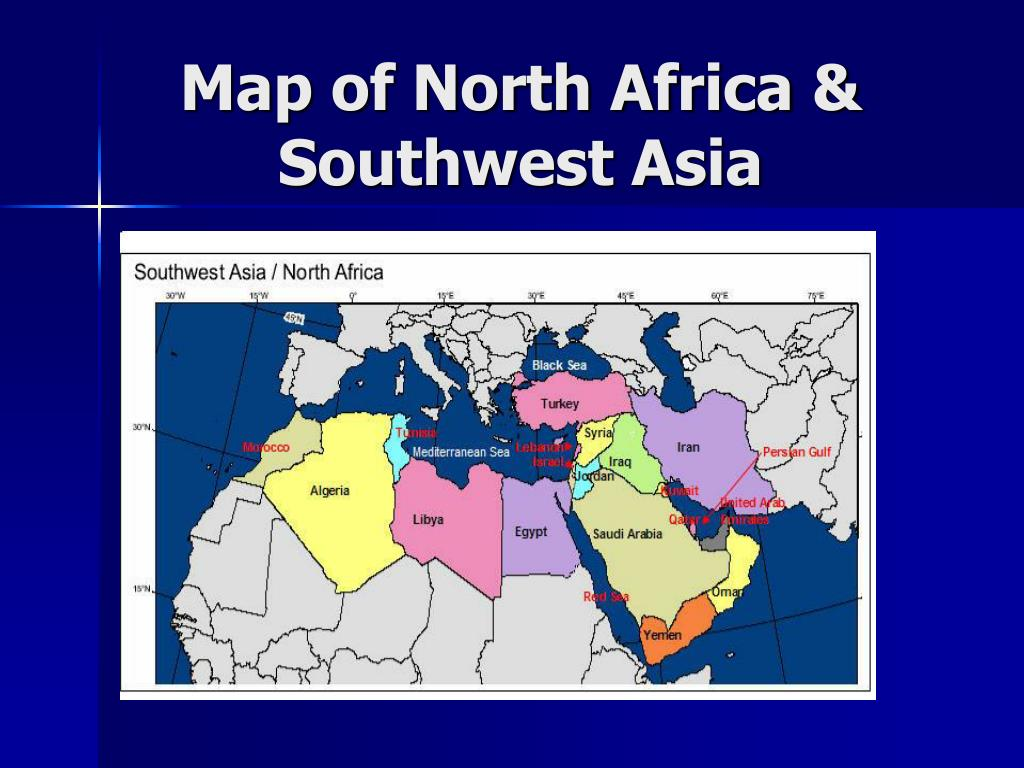 Map of North Africa & Southwest Asia