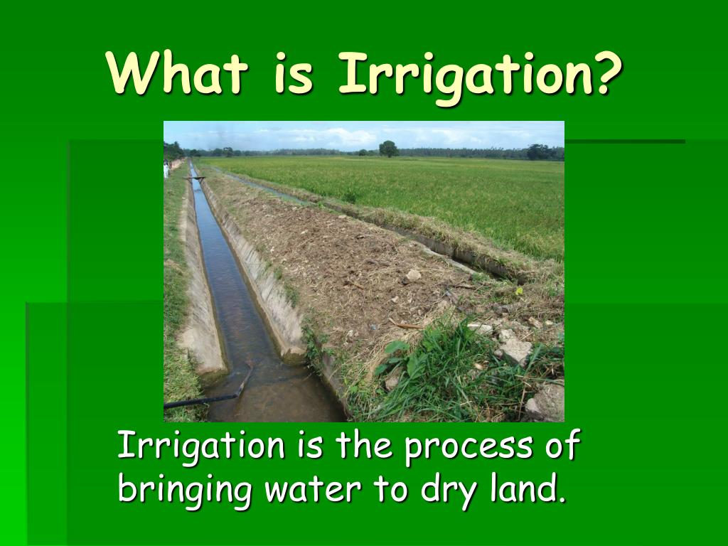 What is Irrigation?