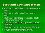 stop and compare notes80