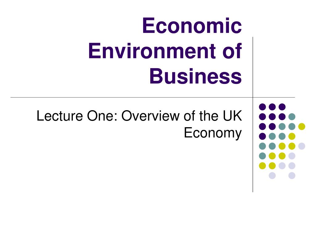 economic environment of business l.