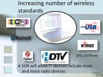 increasing number of wireless standards