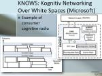 knows kognitiv networking over white spaces microsoft