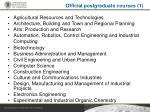 official postgraduate courses 1