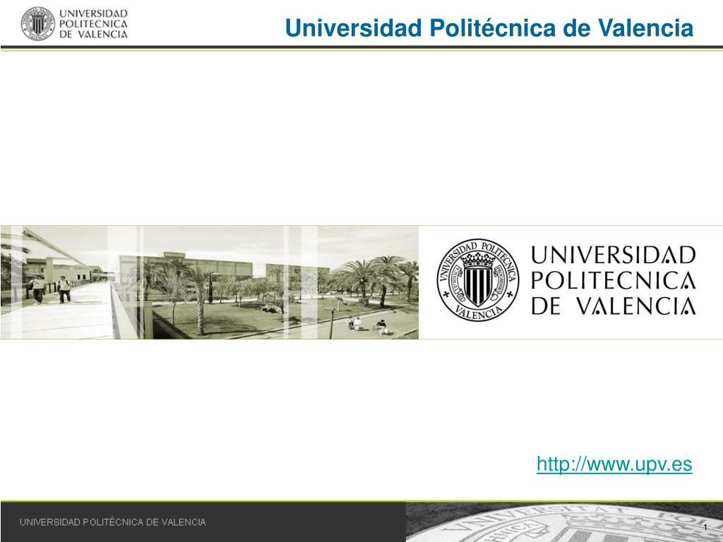 universidad polit cnica de valencia l.