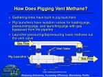 how does pigging vent methane