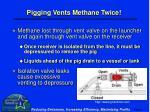 pigging vents methane twice