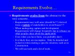 requirements evolve