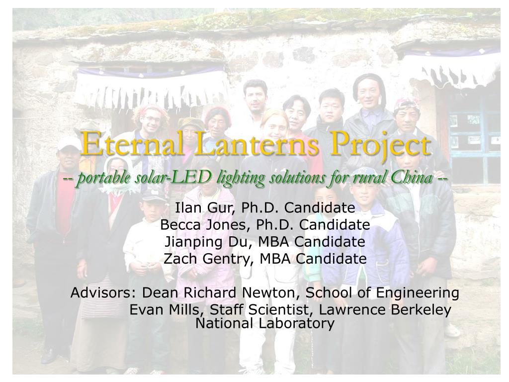 eternal lanterns project portable solar led lighting solutions for rural china l.