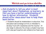 what kids want you to know about them