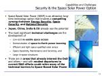 capabilities and challenges security the space solar power option