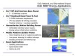 dod national and international impact dod sbsp energy applications