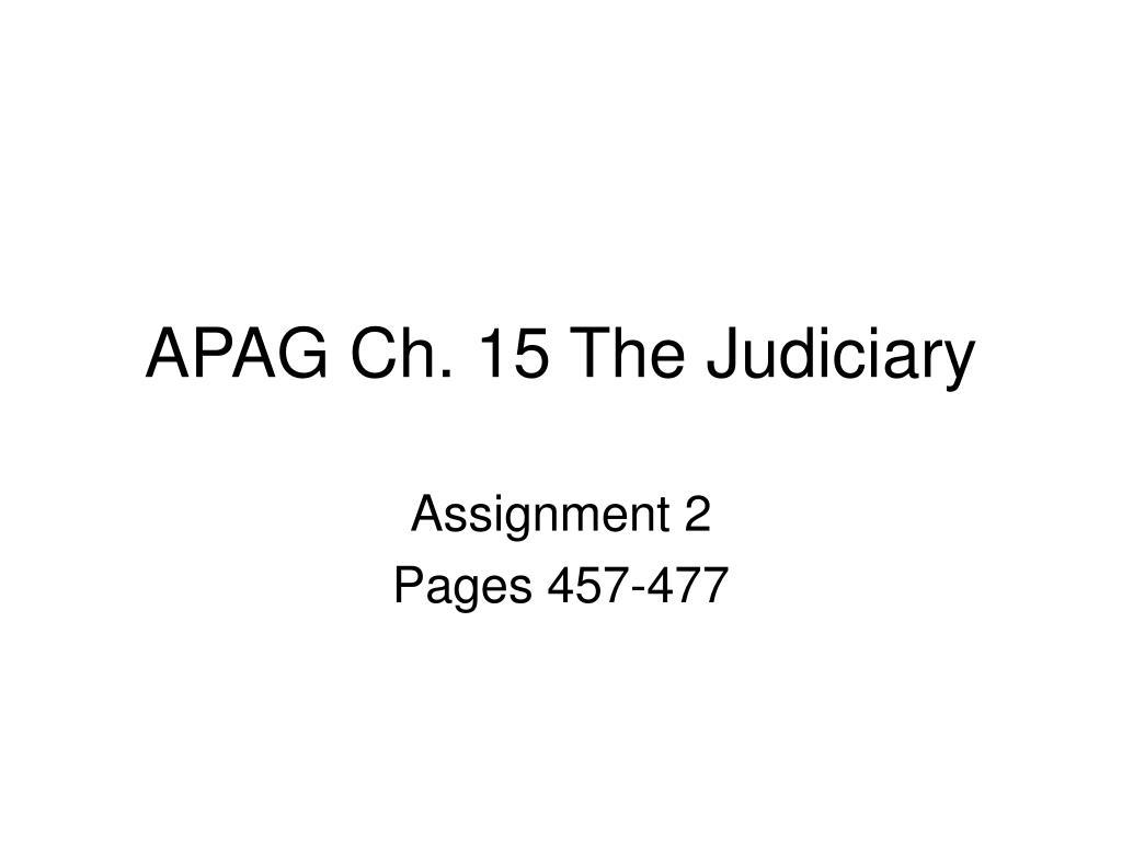 apag ch 15 the judiciary l.
