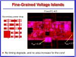 fine grained voltage islands