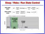 sleep wake run state control
