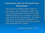 a personal view of the american revolution