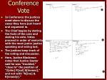 conference vote