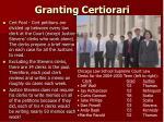 granting certiorari
