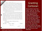 granting certiorari8