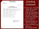 granting certiorari9