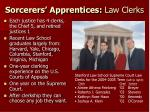 sorcerers apprentices law clerks
