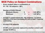 moe policy on s ubject combinations9