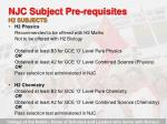njc subject pre requisites23